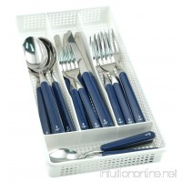 Galleyware Blue 20 Piece Anchor Flatware  Set Plus Storage Tray (Service For 4) - B01CU34CWQ