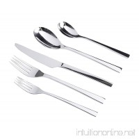 Gibson Elite 20 Piece Sparland Forged Flatware (Set of 4)  Stainless Steel - B01CUDHW0U