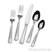 Gourmet Basics by Mikasa 5181725 Universal 45-Piece Stainless Steel Flaware Set with Serving Utensil Set  Service for 8 - B01LZKHSBI