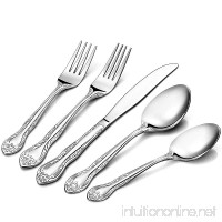 Silver Crown Town & Country Pattern Stainless Steel Cutlery Flatware  20-Piece Silverware Set  Service for 4 - B075D7MK9N