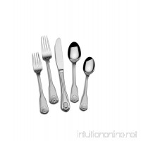 Towle 5192135 London Shell 45-Piece 18/10 Stainless Steel Flatware Set Service for 8 - B01M15GZGF