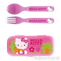 Zak! Hello Kitty Flatware Set for Kids Toddlers Girls (3 Pc: Spoon Fork Travel Case) - B017GK7H7A