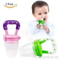 Baby Fruit Feeder (2 Pack),Bestwin Fresh Fruit Feeder,Infant Food Teething Toy for Toddlers & Kids - Pink & Green - B07CKHJCC5