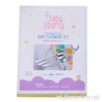 Baby Liberty 3 Piece Baby Flatware Set in Gift Box Made in USA - B01BPDCRQ0