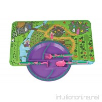 Constructive Eating Garden Fairy Combo with Utensil Set  Plate  and Placemat for Toddlers  Infants  Babies and Kids - Flatware Toys are Made with FDA Approved Materials for Safe and Fun Eating - B008DHA8WM