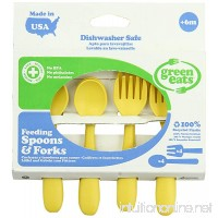 Green Eats 4 Pack Feeding Spoons and Forks  Yellow - B004S2GB0Y