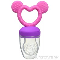 Haakaa Silicone Fresh Food Feeder and Teether PVC  BPA Free (Pink) - B06W2MDK66
