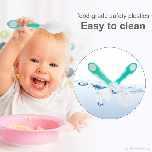 1e9a794e4993 Kids Training Utensils Gift with Travel Case Tableware BPA Free Baby ...