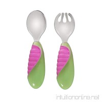 Munchkin Mighty Grip Fork and Spoon Colors May Vary - B07C8FFQ6V