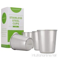 Stainless Steel Cups for Kids and Toddlers - Set of Four 8 oz BPA Free Cups - by HumanCentric - B01FRM04RE