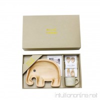 Time Concept Petits Et Maman Wooden Dinnerware Gift Set for Kids - Elephant - B072Q1D5RW