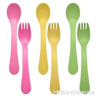 green sprouts Sprout Ware Fork and Spoon  Pink Assortment  6 Count - B076MQZ3QQ