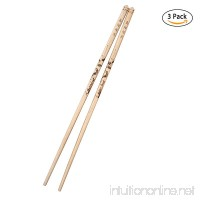 Chopsticks Handmade Pyrograph Chopstick Chinese Style Exquisite Traditional Decorated Gift Set Reusable Washable Natural Wooden Poker-picture Chopsticks - A+ Grade (various Pattern) - B07G12DJQ9
