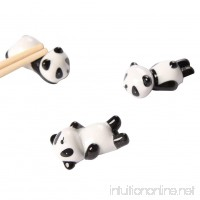 Freedi Cute Panda Chopsticks Rest Holder Set Chinese Ceramic Chopsticks Stand Spoon Fork Holder Rack Practical Tablewares Accessories 3 Pcs (Style A) - B07DQH3GMP