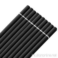 LIUNA@ 5 Pairs Black Square Fiberglass Chop Sticks Reusable Luxury Chinese Chopstick Set 24cm - B0725WCGRR