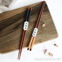 LtrottedJ 2 Pairs Handmade Japanese Natural Chestnut Wood Chopsticks Set ,Value Gift - B07DWZ7X44