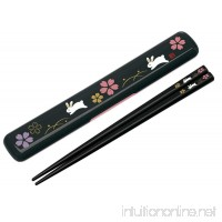 Paint chopsticks containing chopstick case set 18cm Sakura I rabbit ANBG3 - B00OMKVPI0