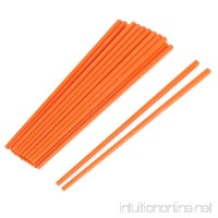 uxcell Household Kitchen Dinnerware Tool Kitchenware Chopsticks 10 Pairs Orange - B01N69KTOZ