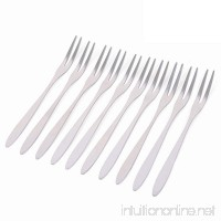 ICYANG 10 Pcs Stainless Steel Fruit Fork Two Prong Forks Set Bistro Cocktail Tasting Appetizer Small Cake Pastries Dessert - B079NB83DG