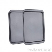 BESTONZON 2PCS 14-Inch Rectangular Baking Sheets Nonstick Baking Pans for Baking - B07CG8Q89C