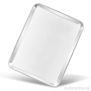 Baking Pan Bastwe Cookie Sheet Stainless Steel Baking Pan Rectangle Size 12×9×1 inch Healthy & Non Toxic Superior Mirror Finish & Easy Clean Rust Free & Less Stick Dishwasher Safe - B07BRSWLDG