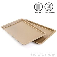 Fayy Baking Sheet Cookie Sheet Half Sheet Pan Baking Pans Heavy Duty Cookie Sheets Bakers Half Sheet Baking Pans Metal Sheet Pan Baking Tray Roasting Sheets Quarter Sheet Pan Jelly Roll Pan - B07DN83YSS