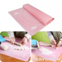 "Silicone Large Pastry Mat With Measurements  Kemilove 11.4"" x 10.2"" Non-Slip Sheet Sticks To Countertop For Rolling Dough - B0713RJSV8"