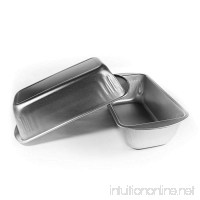 Bread Pans | Medium Loaf Pans for Baking Bread | Metal Loaf Pans for Loaves of Bread | Rectangular Bakeware Set for Banana - Pound Cake and Pan - B076G5ZJD9