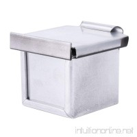Freebily Square Baking Bakeware Bread Mold Toast Cube Box Non-stick Teflon Coating with Lid Silver 6cm - B07D9BQ7X3
