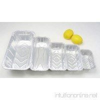 KitchenDance Disposable Aluminum Foil Loaf Pan Variety Pack. 1 lb. - 1-1/2 lb. - 2 lb. - 3 lb. and 5 lb. size. 10 of each size for 50 total. - B075FHQS8V