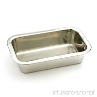 "Stainless Steel 8.5""x 4.75"" Bread Loaf Meatloaf Cake Pan - B017341AN6"