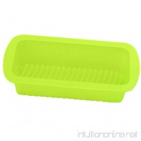 Zeroyoyo Silicone Rectangle Non Stick Bread Loaf Cake Mold Bakeware Baking Pan Mould (Green) - B071FJXJG4