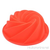 Silicone Fluted Bundt Pan Cake Mold BPA Free  Non-Stick European-Grade Silicone Red - B0771LJL5D