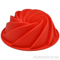 Sorbus® Silicone Fluted Mold Bunt Pan-Spiral - B00078E4J8